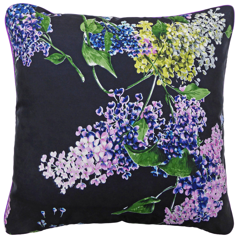 Vintage Cushions 'Hydrangeas' Bespoke Luxury Silk Pillow/Cushion, Made in Uk