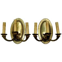 Pair of Neoclassic Oval Sconces