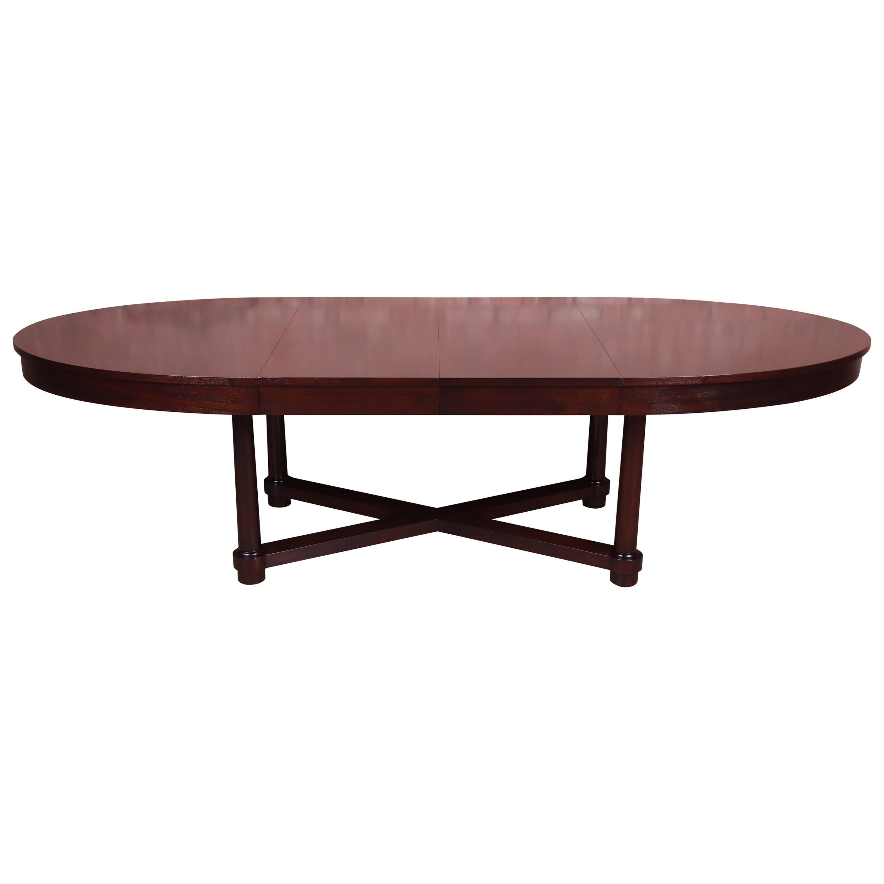 Barbara Barry for Baker Furniture Neoclassical Mahogany Dining Table, Refinished