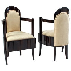 Pair of Art Deco Chairs from the Ocean Liner Ile-de-France
