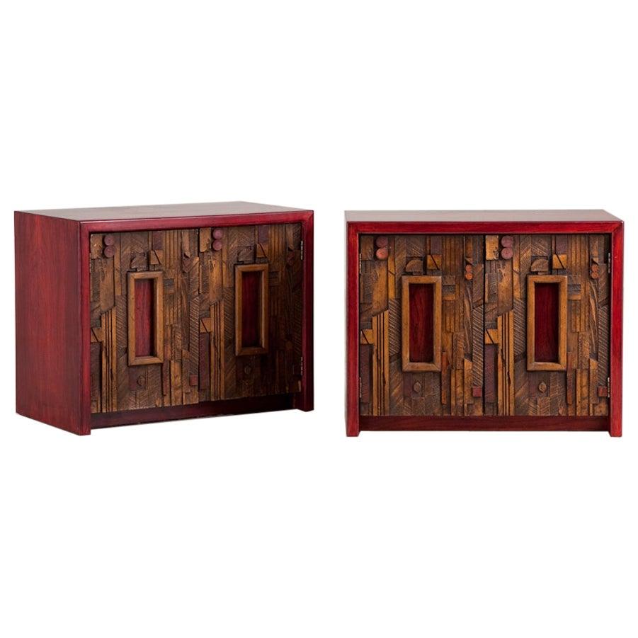 Pair of Side Cabinets Designed by Lane, Altavista, USA, 1960s