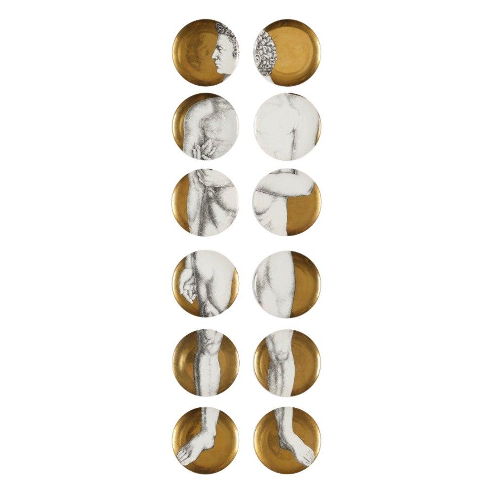 Set of 12 Plates, Piero Fornasetti, Adamo / Adam