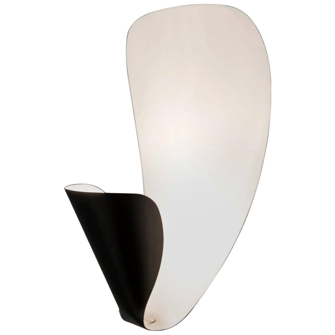 Michel Buffet Mid-Century Modern Black B206 Wall Sconce Lamp