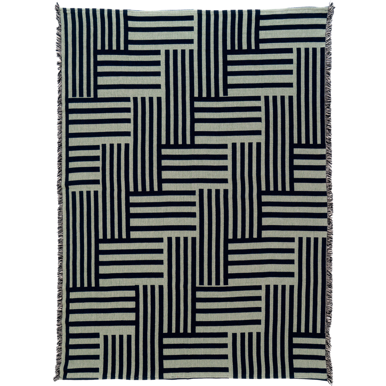 Optical Woven Throw Blanket