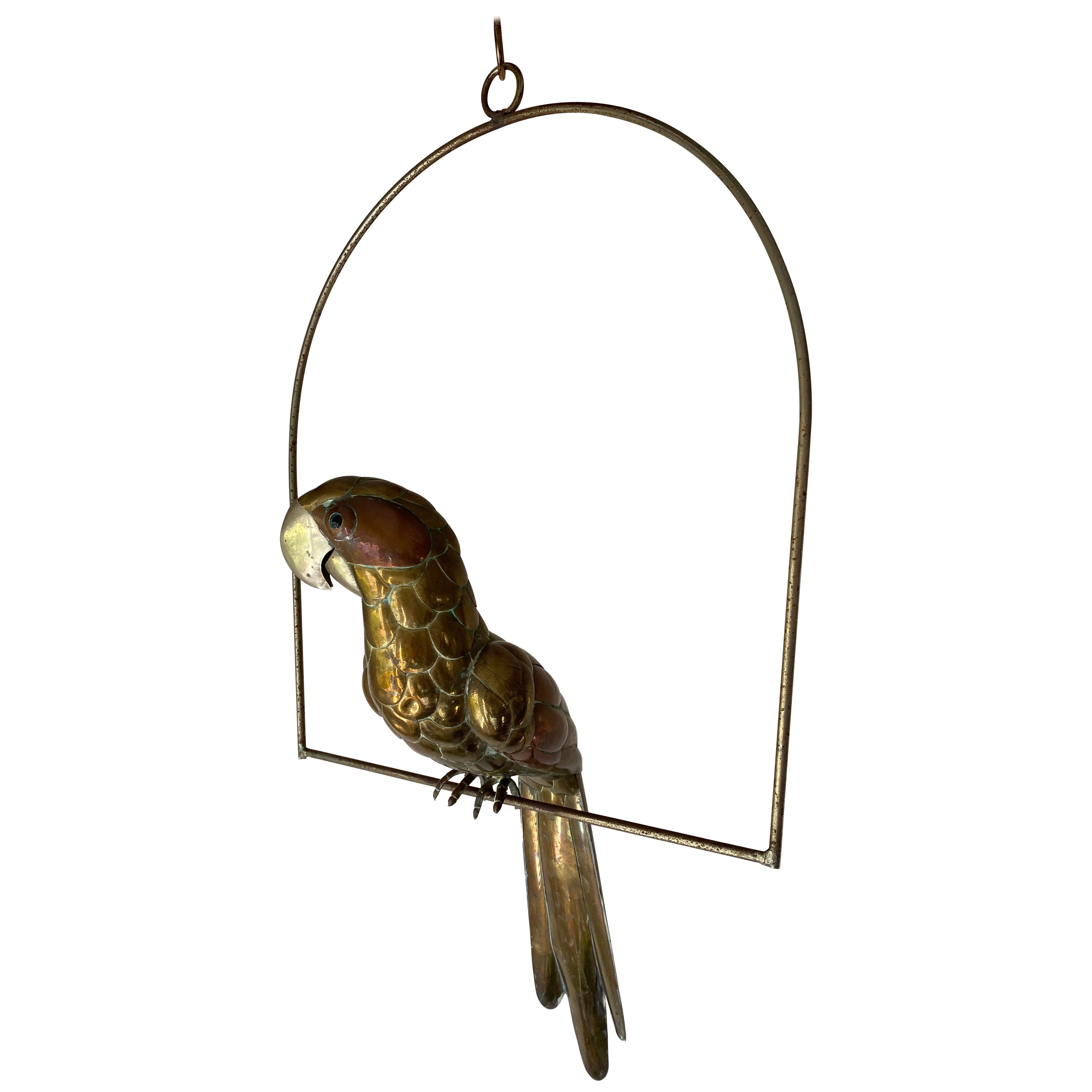 Sergio Bustamante Parrot in Brass and Copper