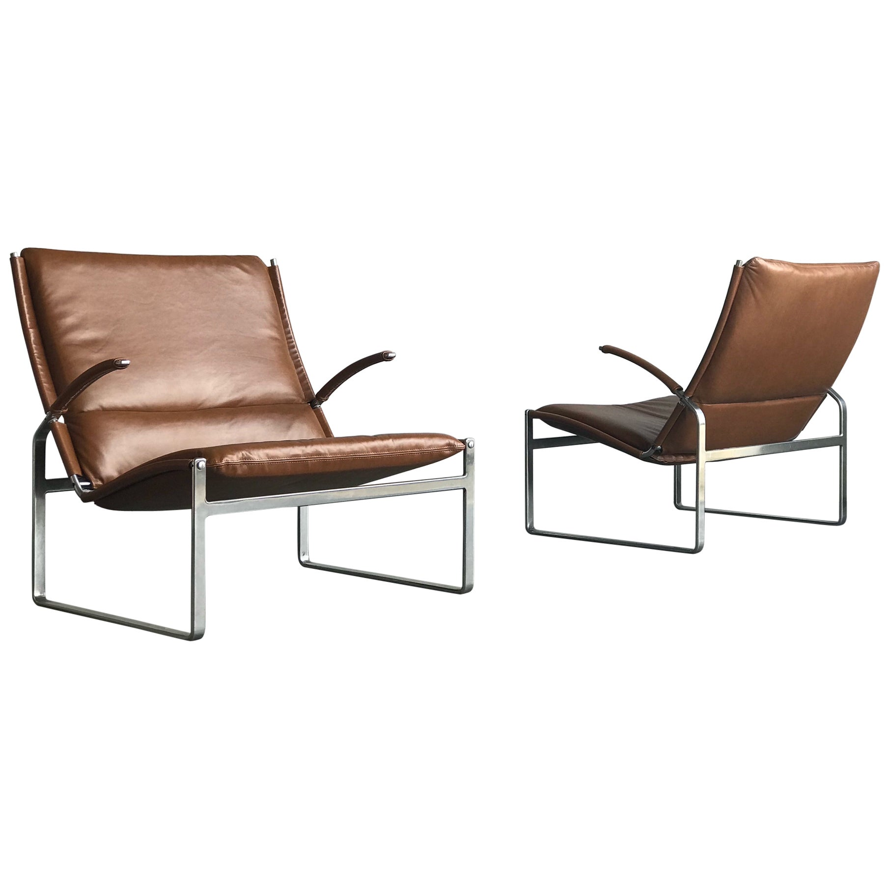 Preben Fabricius and Jørgen Kastholm Lounge Chairs