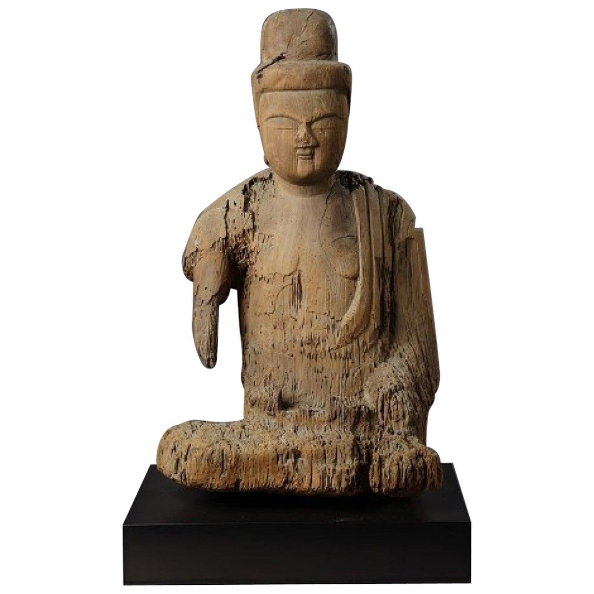 Kamakura Period Japanese Shinzu Sculpture