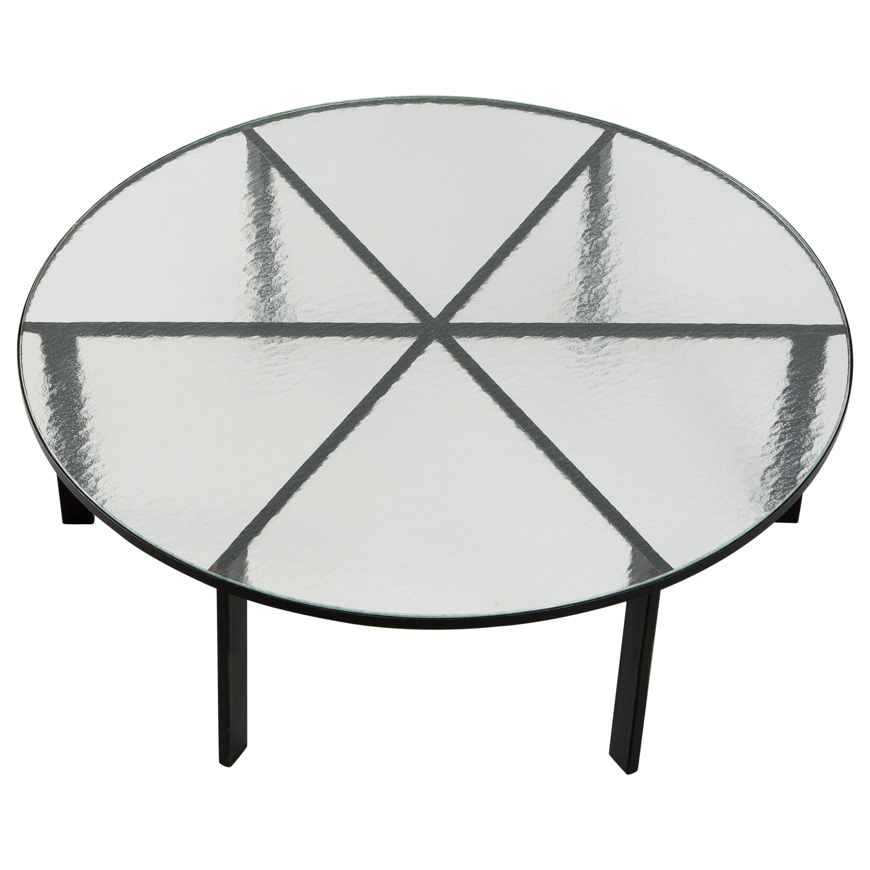Janni Van Pelt Round Coffee Table with Frosted Glass