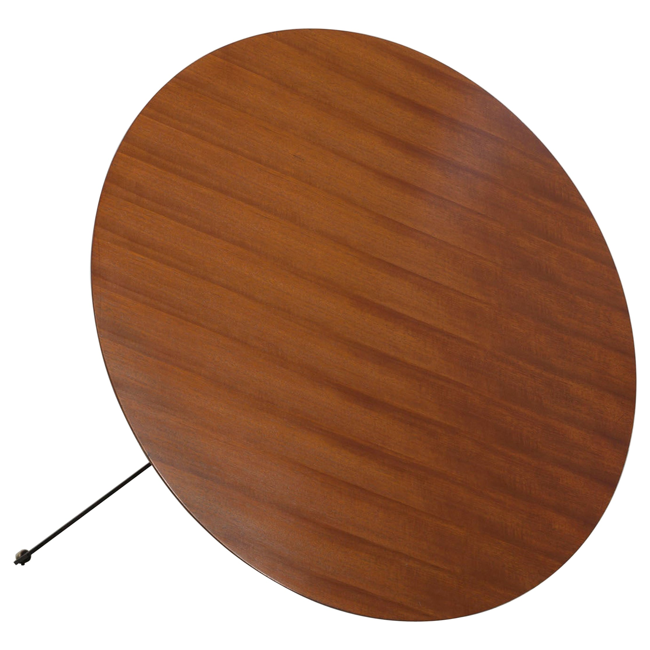 Height Adjustable Round Teakwood Table from the Italian, 1950s