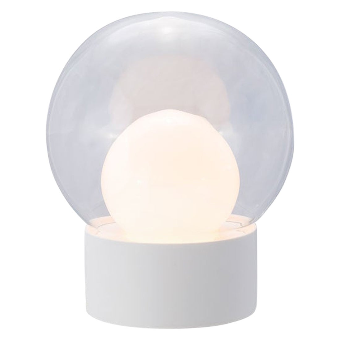 Boule, Table Light, Small, Transparent, European, Black, Minimal, 21st Century