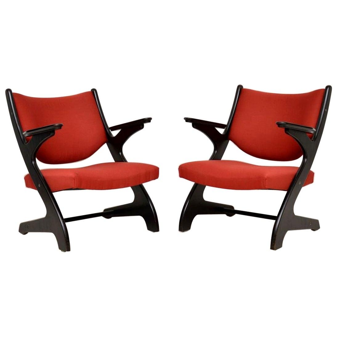 1960s Pair of Vintage Italian Armchairs