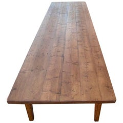 Conference Table in Reclaimed European Pine, Custom Made by Petersen Antiques