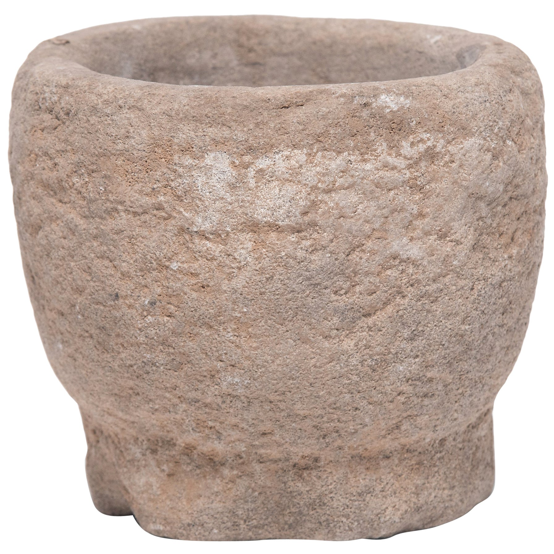 Chinese Stone Garlic Mortar, circa 1900