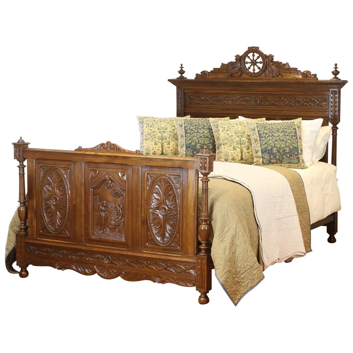 Oak Breton Antique Bed WK143