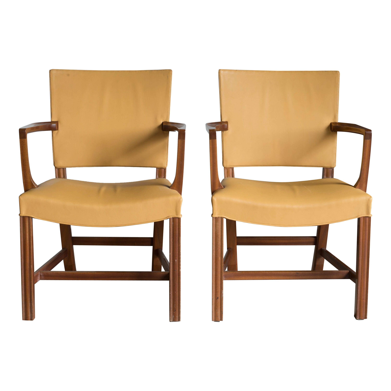 Pair of Kaare Klint Armchairs for Rud, Rasmussen