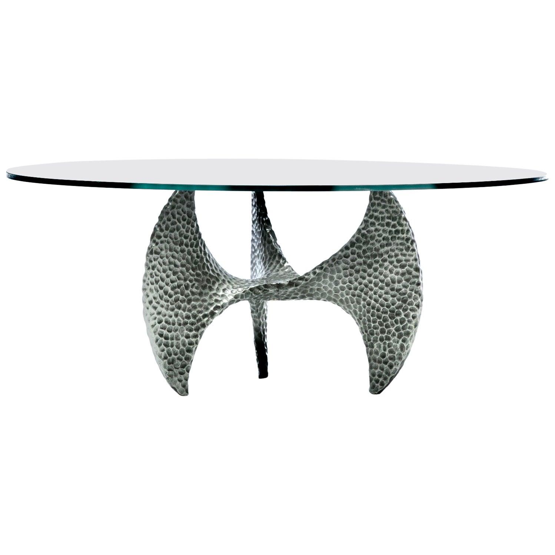 Paul Evans Style Brutalist Propeller Base Coffee Table Stamped, 1970