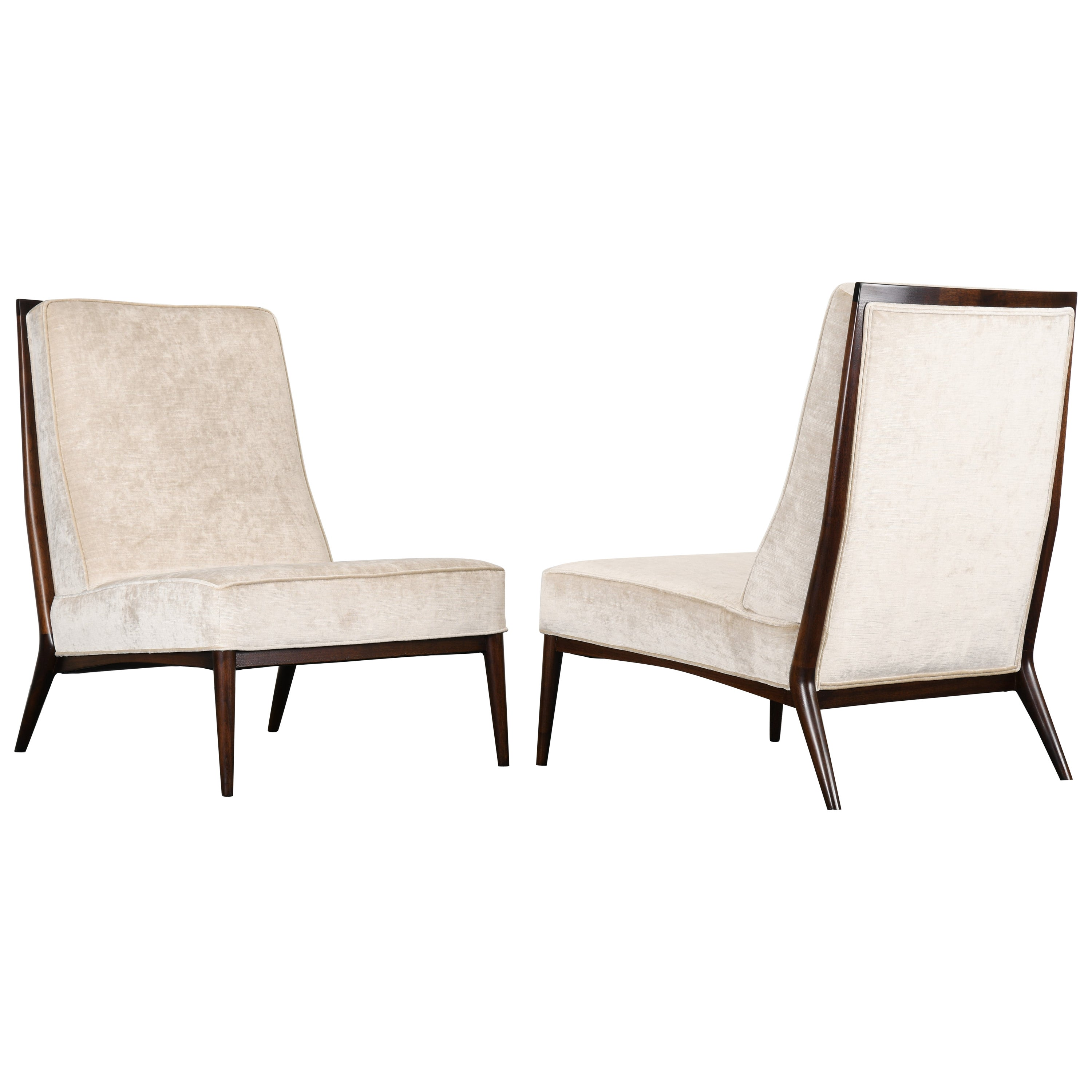 Pair of Paul McCobb Slipper Chairs for Directional, 1950s
