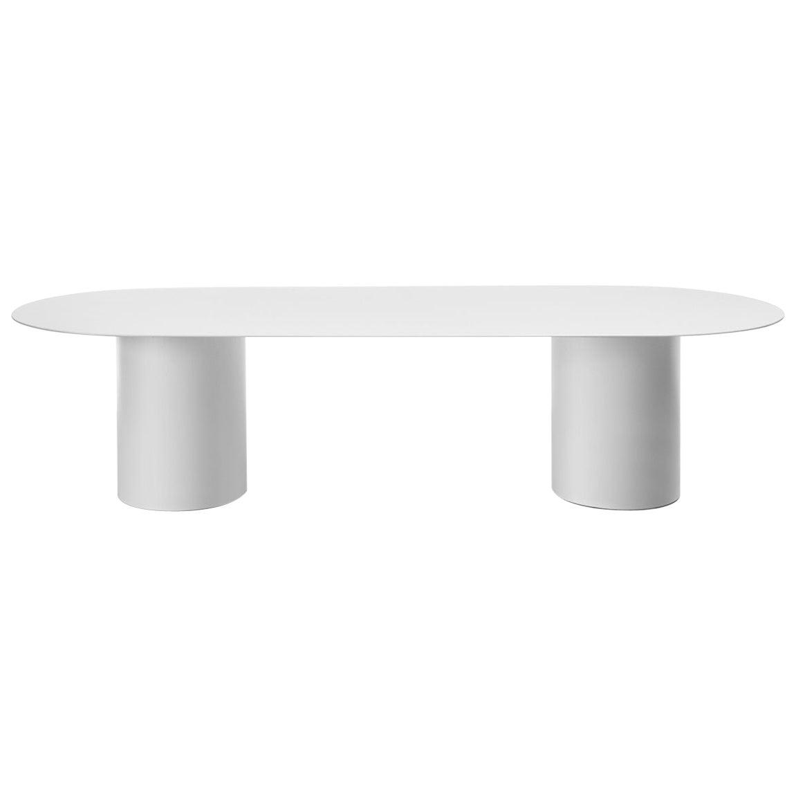Desalto MM8 White Table Designed by Guglielmo Poletti