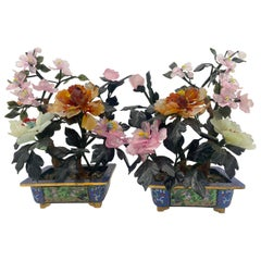 19th Century Chinese Multi-Color Bonsai Tree in Cloisonné Pot