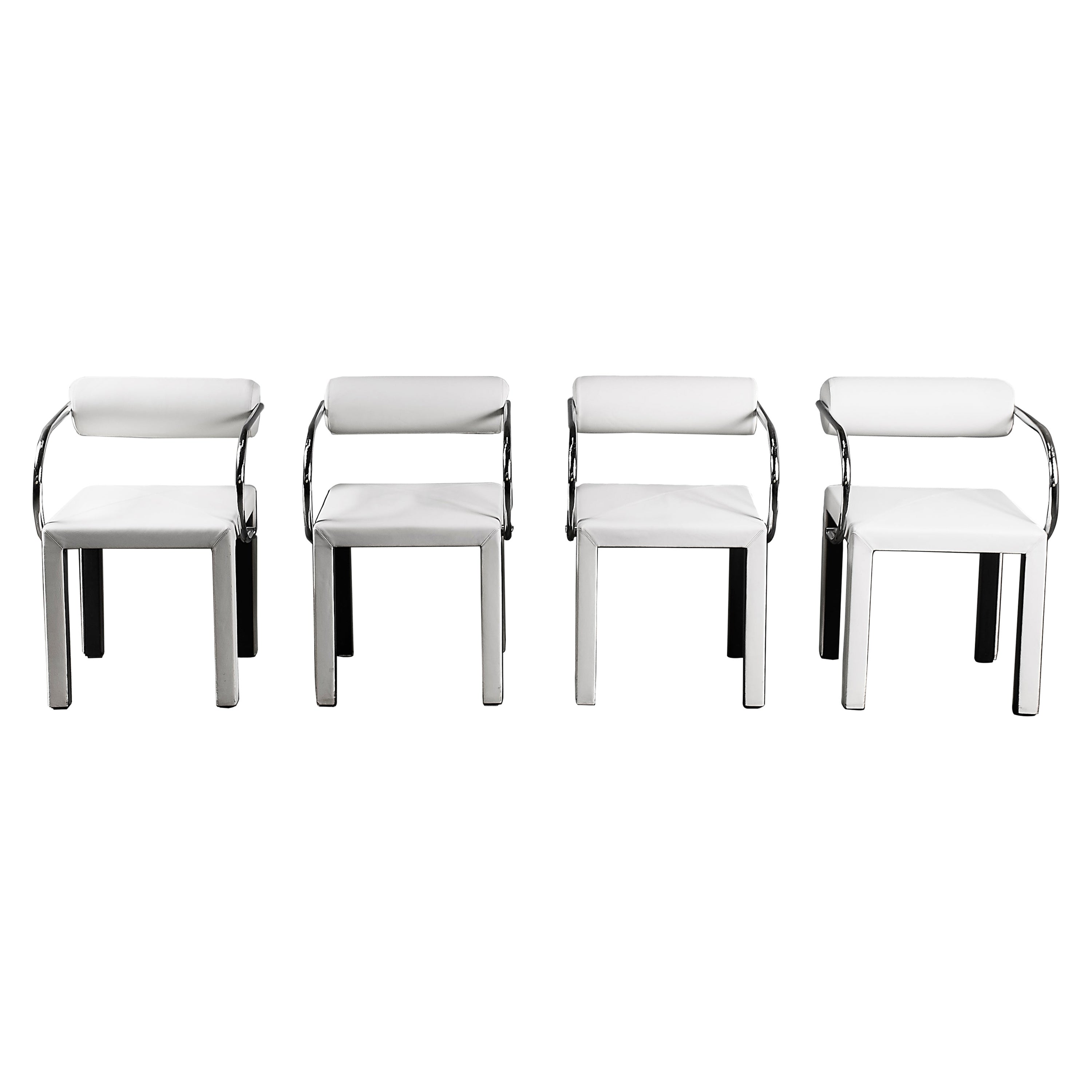 Arcadia Chairs by Paolo Piva for B&B Italia in White Leather