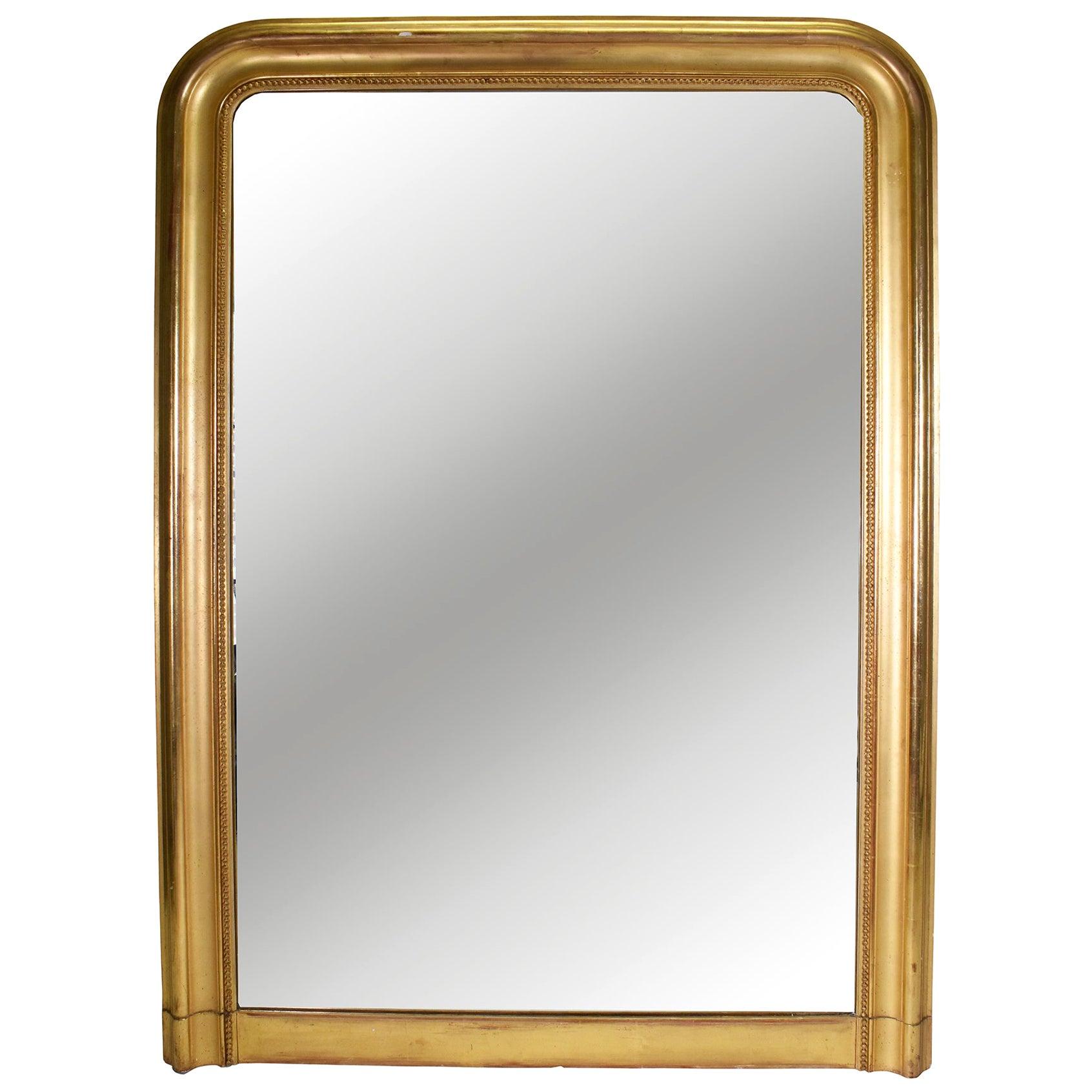 19th Century Louis Philippe Gold Gilt Mirror