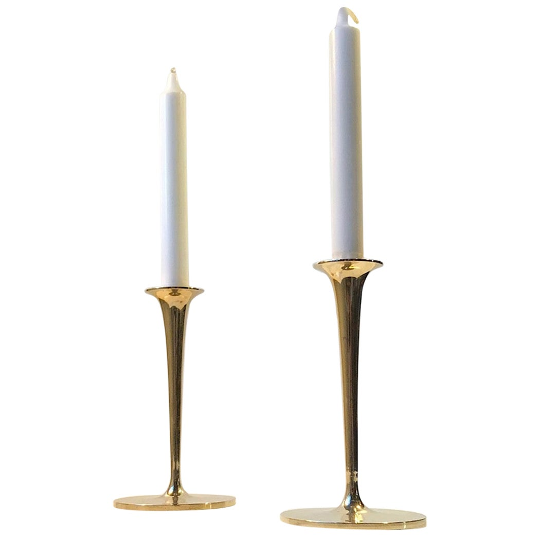 Vintage Scandinavian Candlesticks in Brass, 1960s