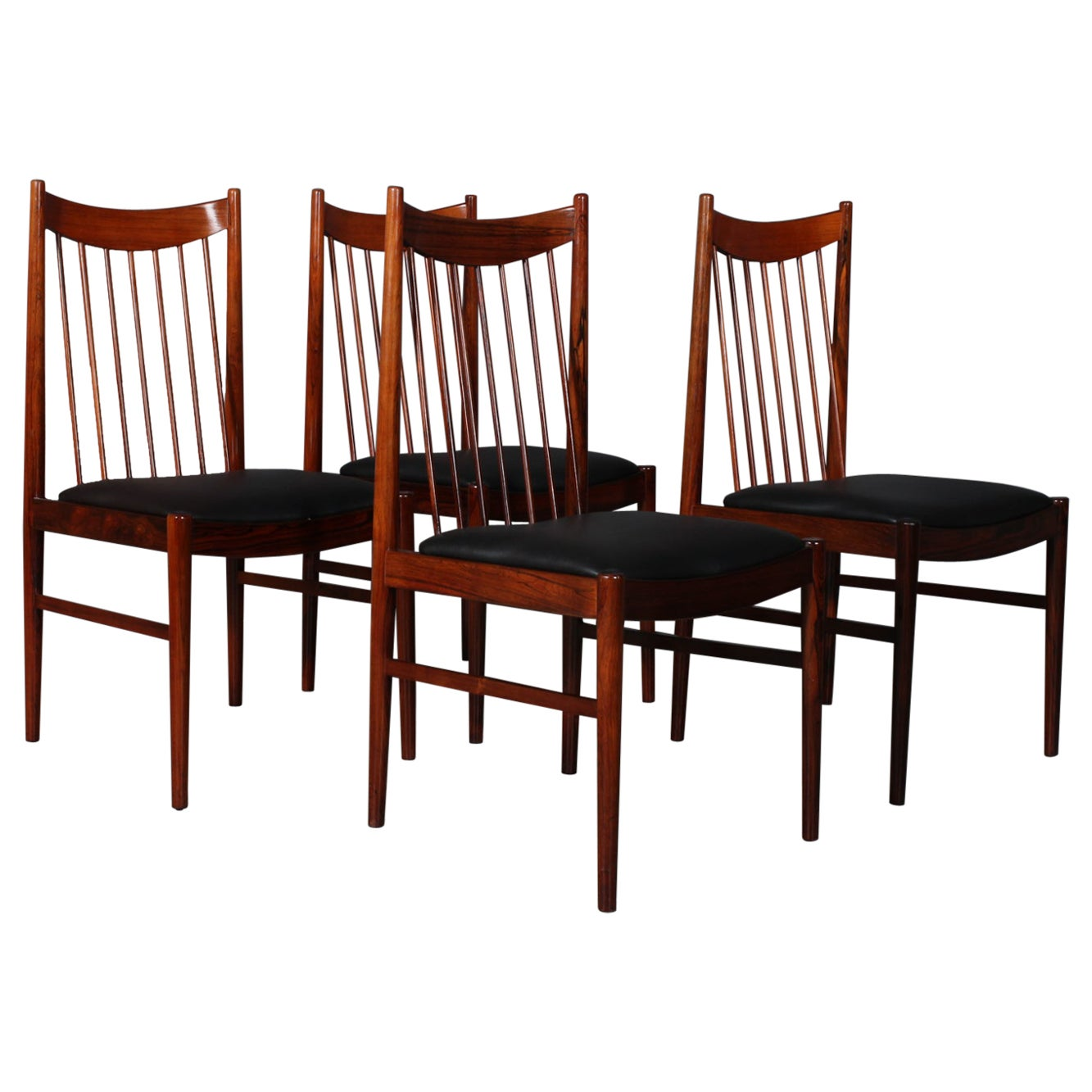Set of Arne Vodder Rosewood Chairs, Model 422, Made by Sibast