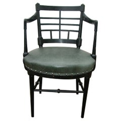 Aesthetic Movement Jacobean Or Old English Armchair after a Design by E W Godwin