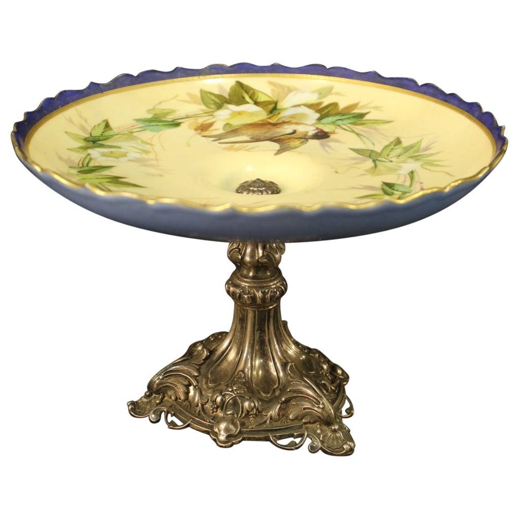 Italian Centerpiece in Painted Ceramic, 20th Century