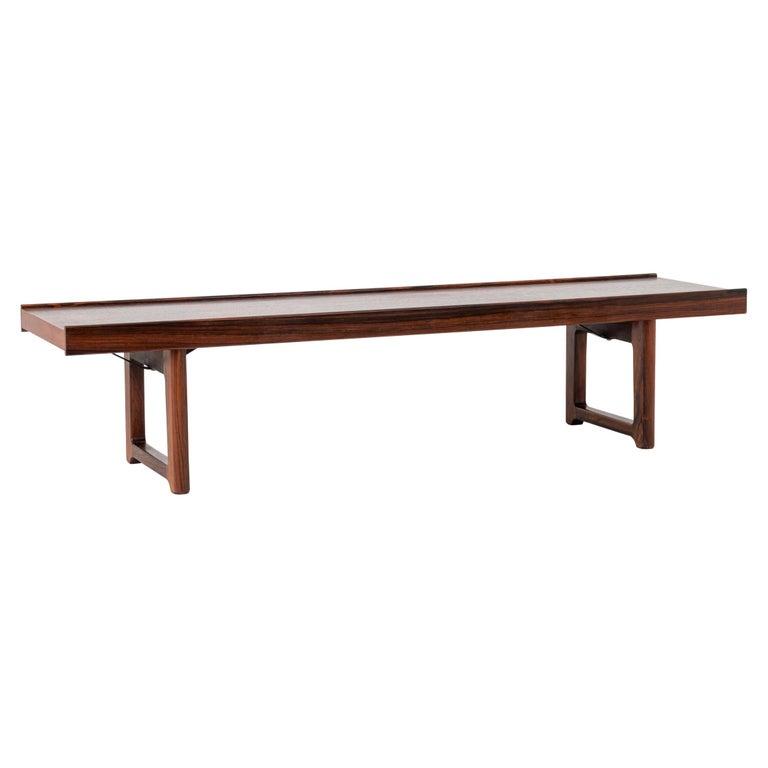 Scandinavian Modern Rosewood Bench by Torbjørn Afdal for Bruksbo For Sale