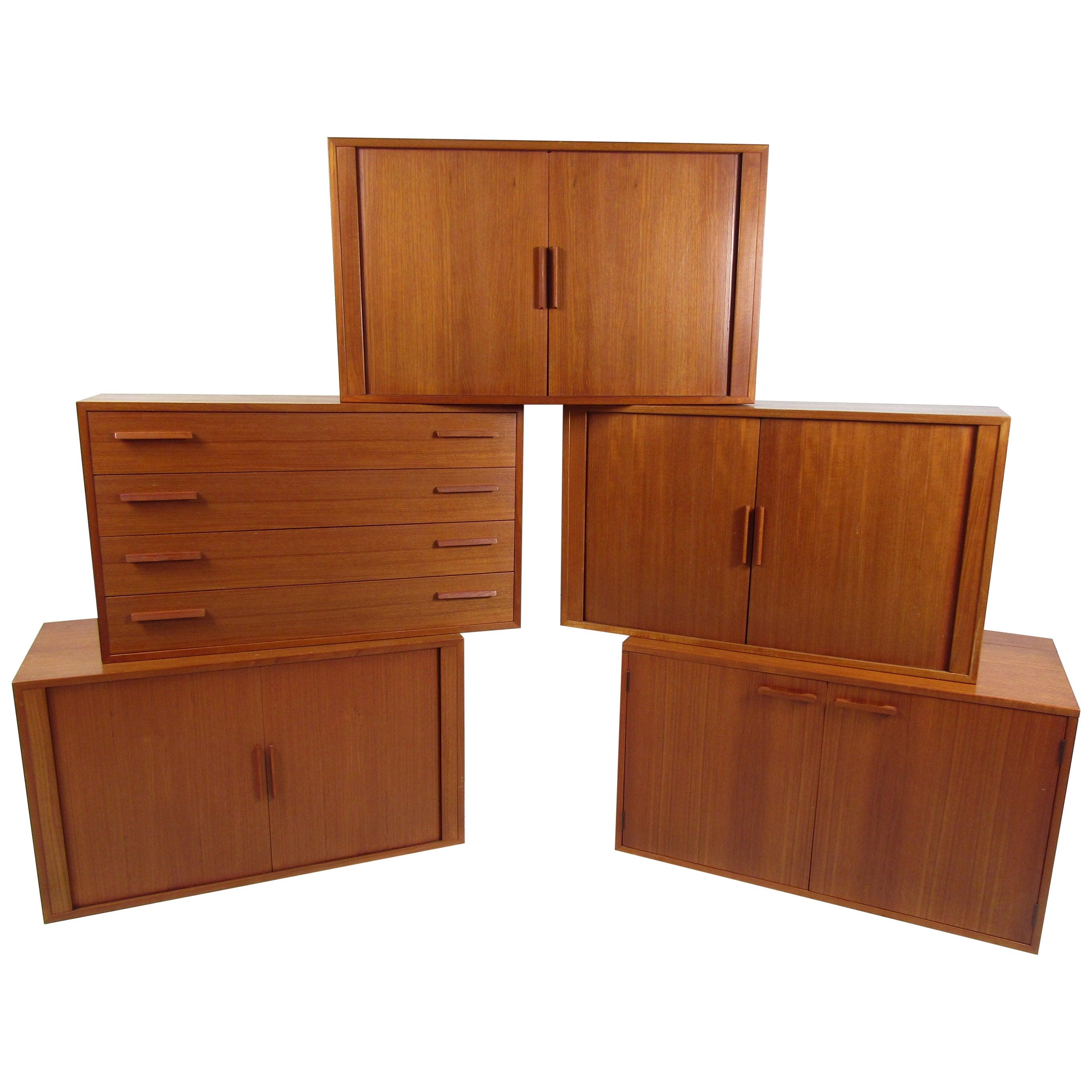 Danish Modern Modular Wall-Mounted Cabinets