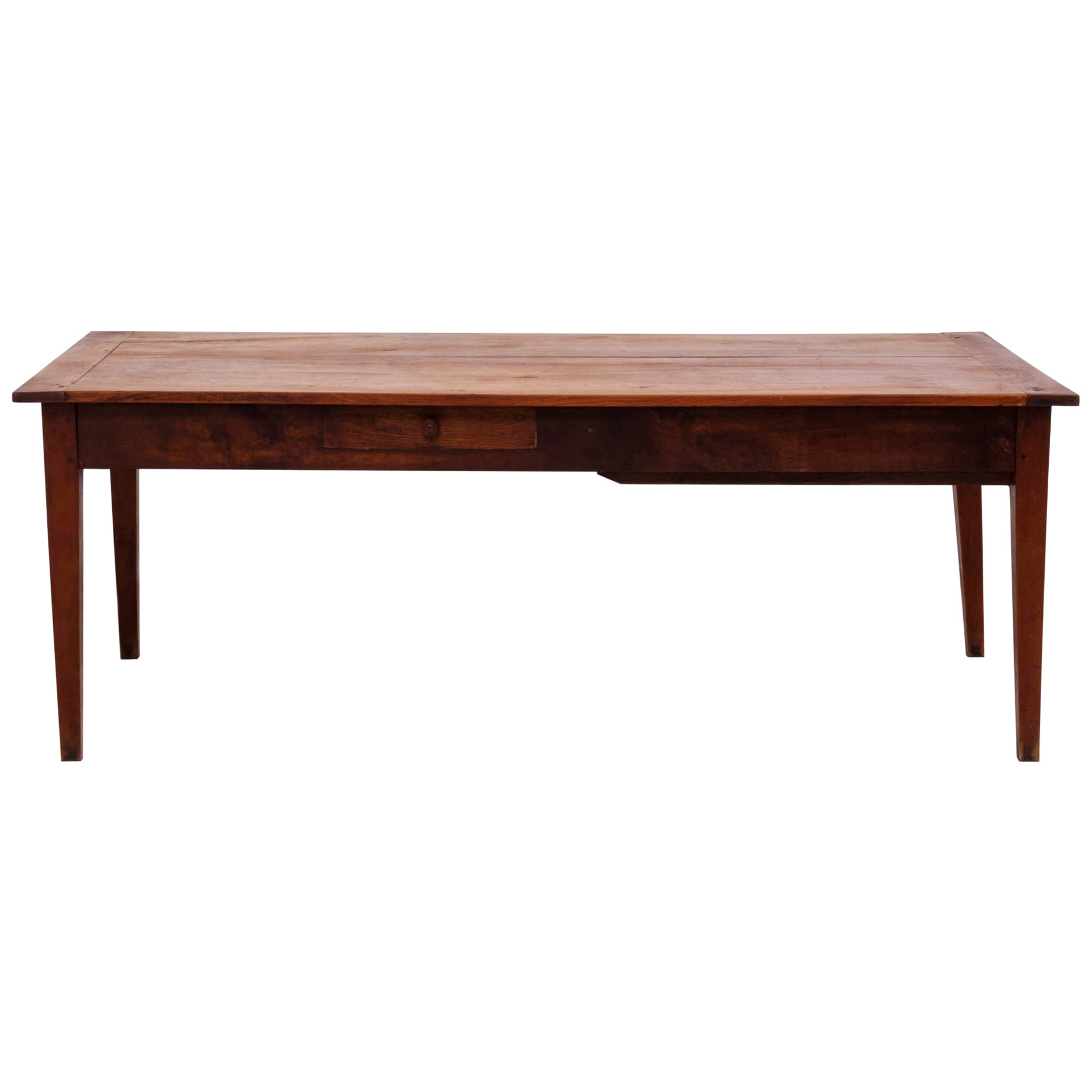 19th Century French Cherrywood and Oak Farmhouse Table