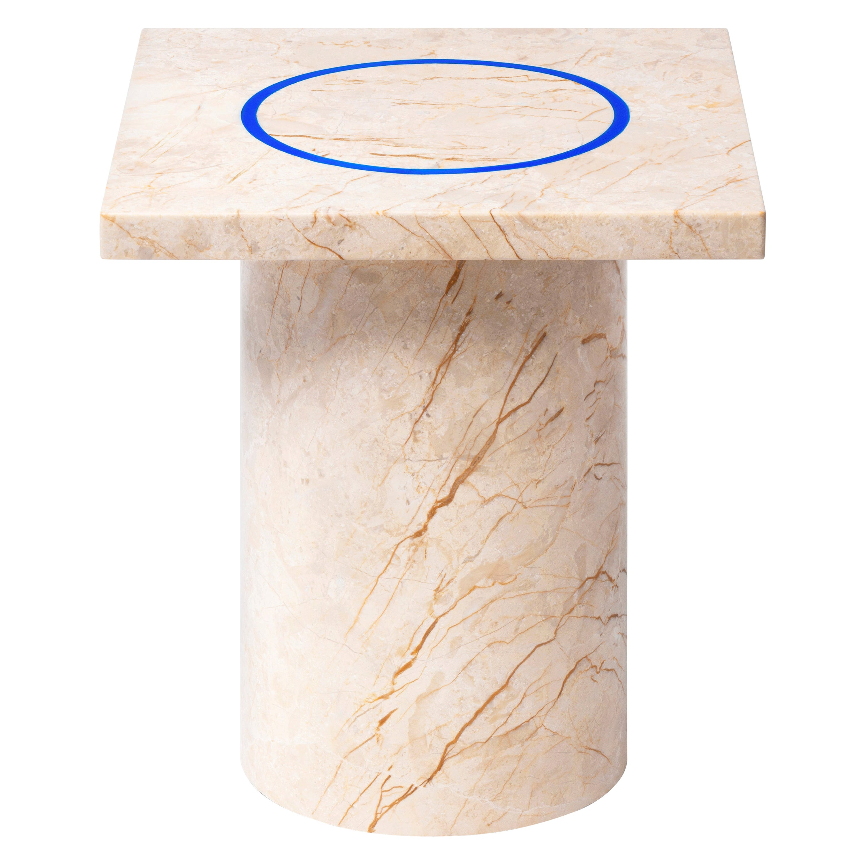 Menes Gold Square Side Table from Dislocation by Studio Buzao