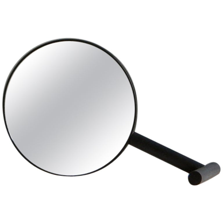 Black Birch Wood Paddle Mirror