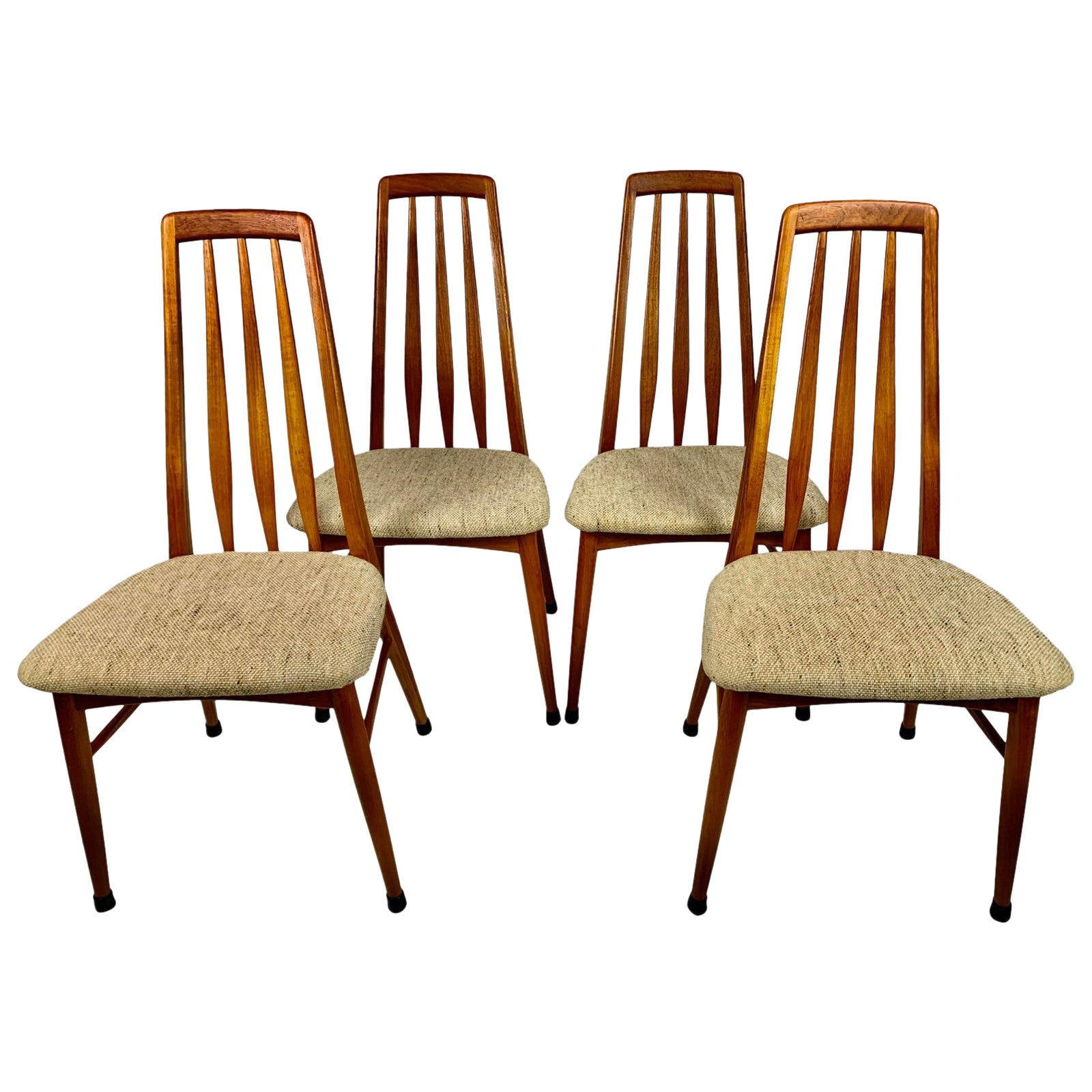 Midcentury Danish Teak Koefoeds Hornslet 'Eva' Chairs, Set of 4