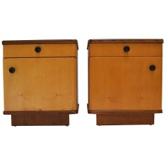 Pair of Midcentury Czechoslovakian Bedside Tables, 1960s