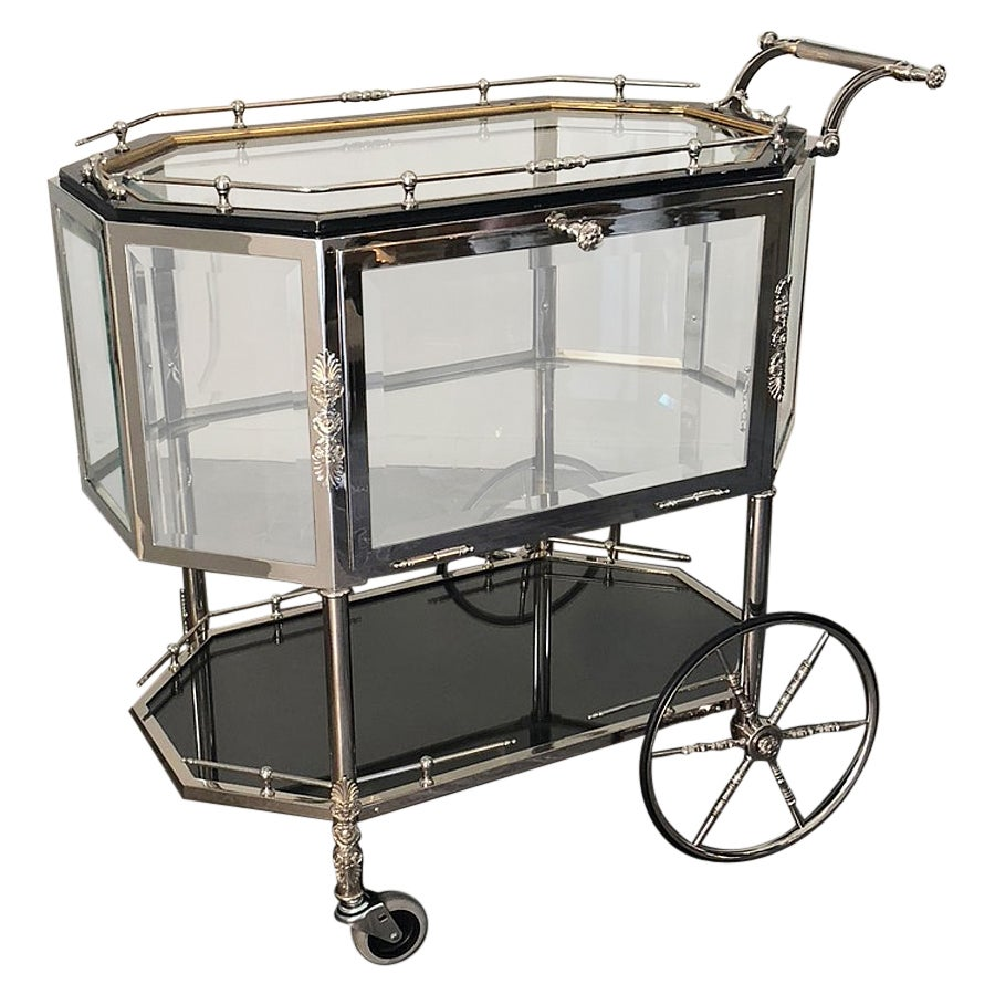 Serving or Bar Cart with Tray Top