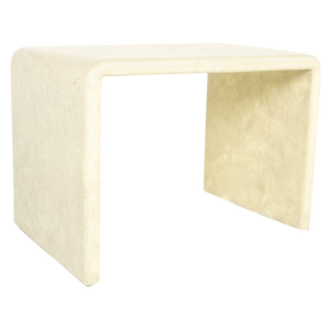 Karl Springer Mid Century Lacquered Goat Skin Side End Table