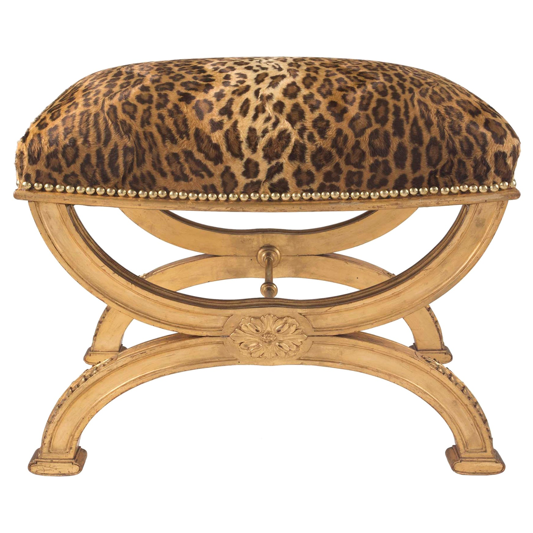 French 19th Century Louis XVI Style X Shaped Bench