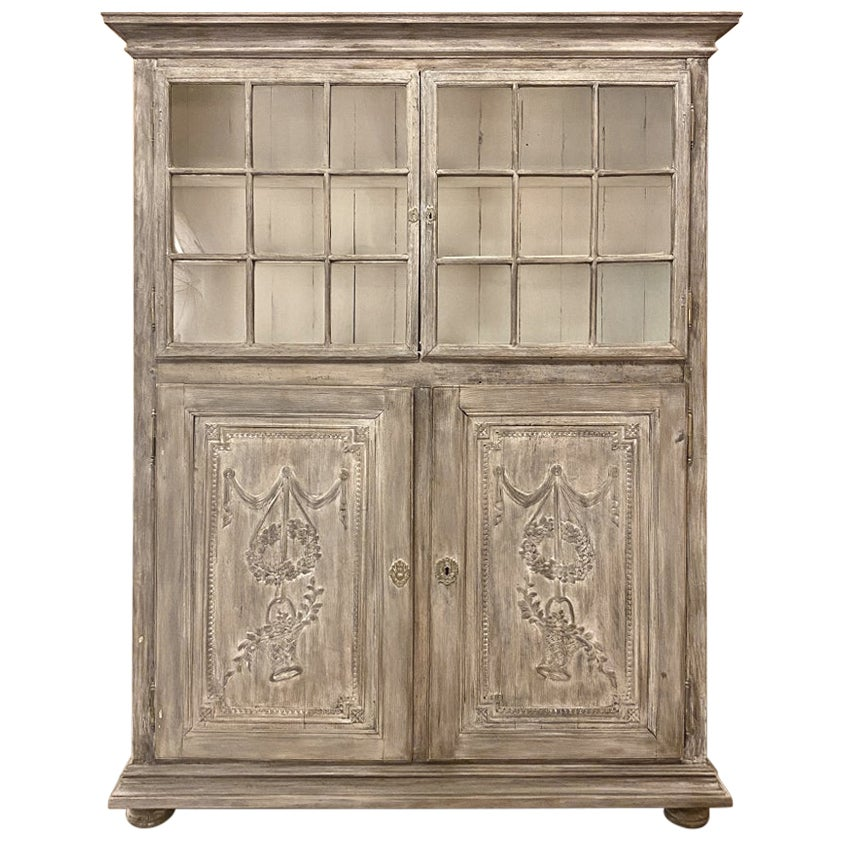 19th Century French Louis XVI Bookcase, Display Cabinet