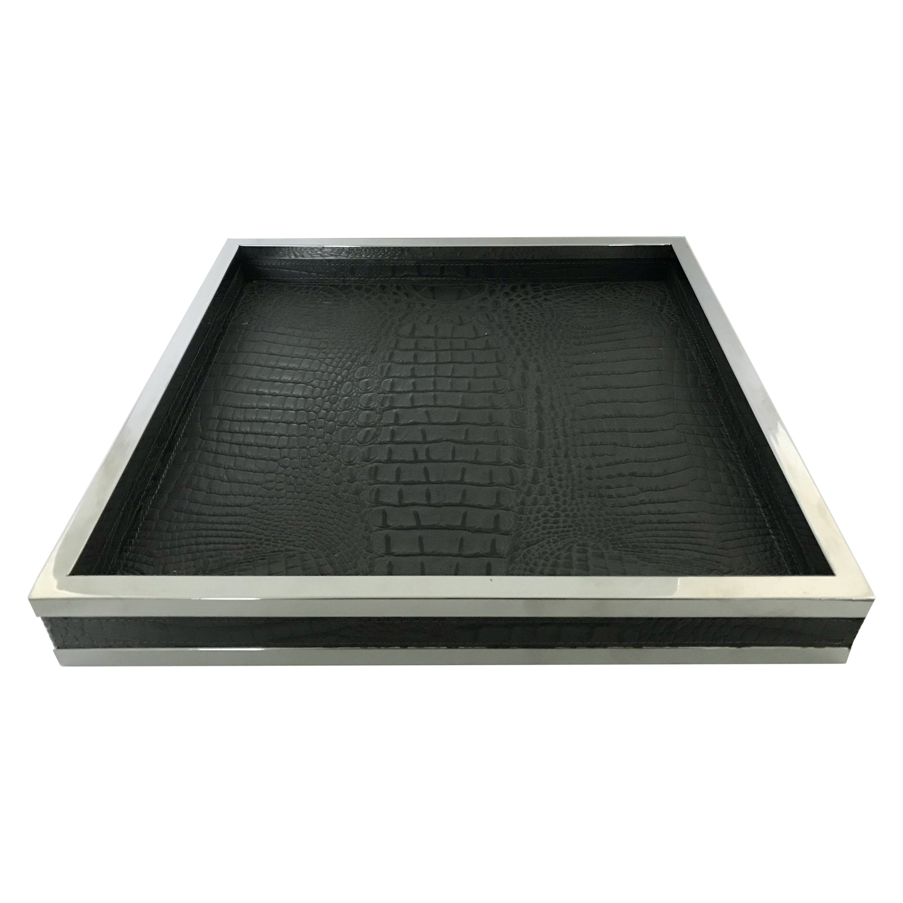 Black Leather Tray