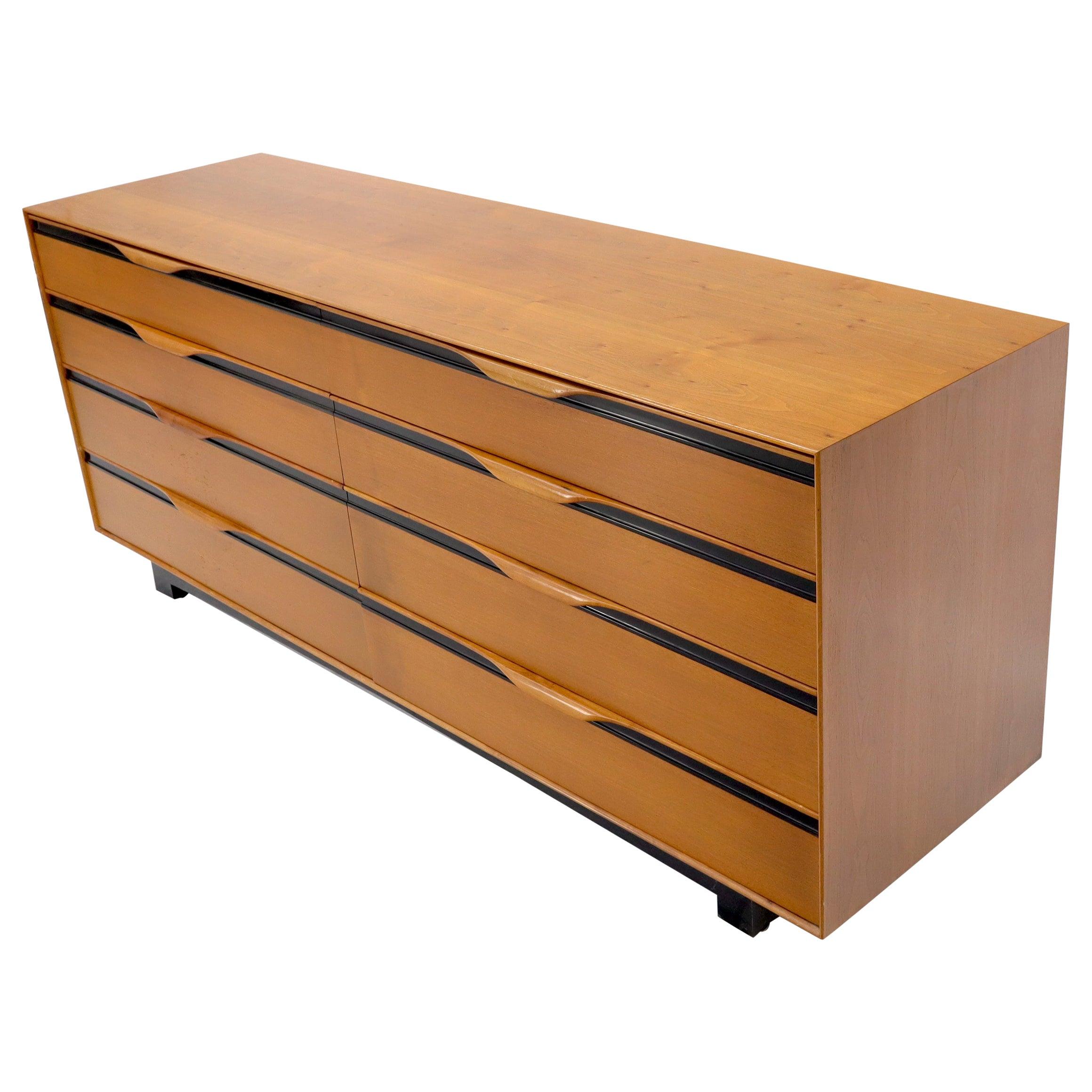 John Stuart Light Walnut Eight Drawers Long Dresser