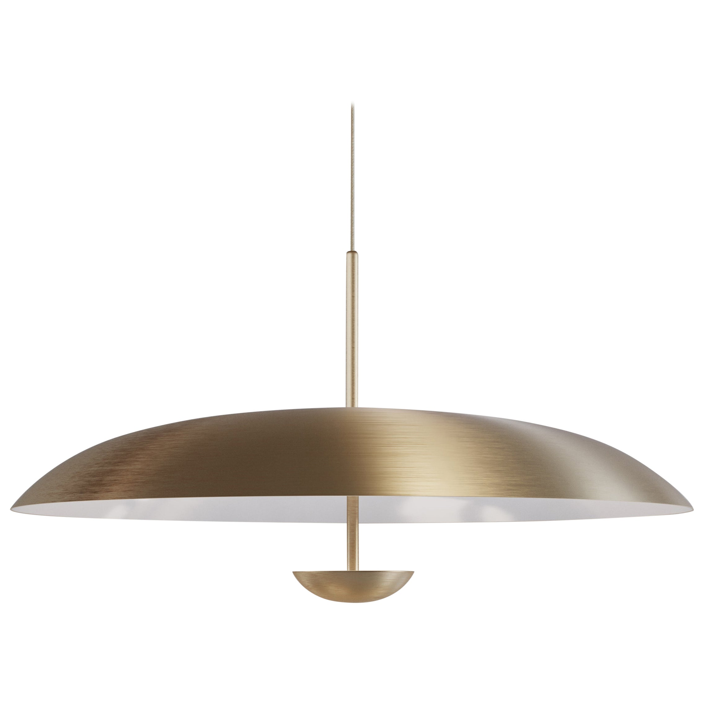 'Cosmic Purion Pendant' White Lacquered Satin Brass Ceiling Lamp