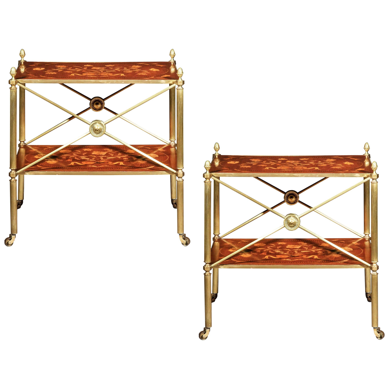 Antique Brass Coffee Table or Étagère