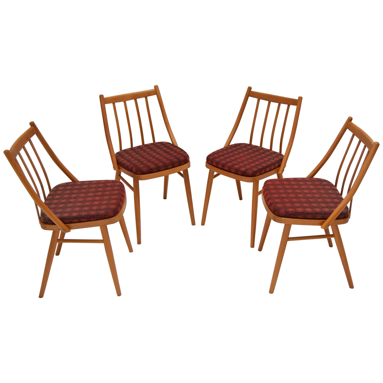 Set of Four Midcentury Dining Chairs by Antonín Šuman, 1980s