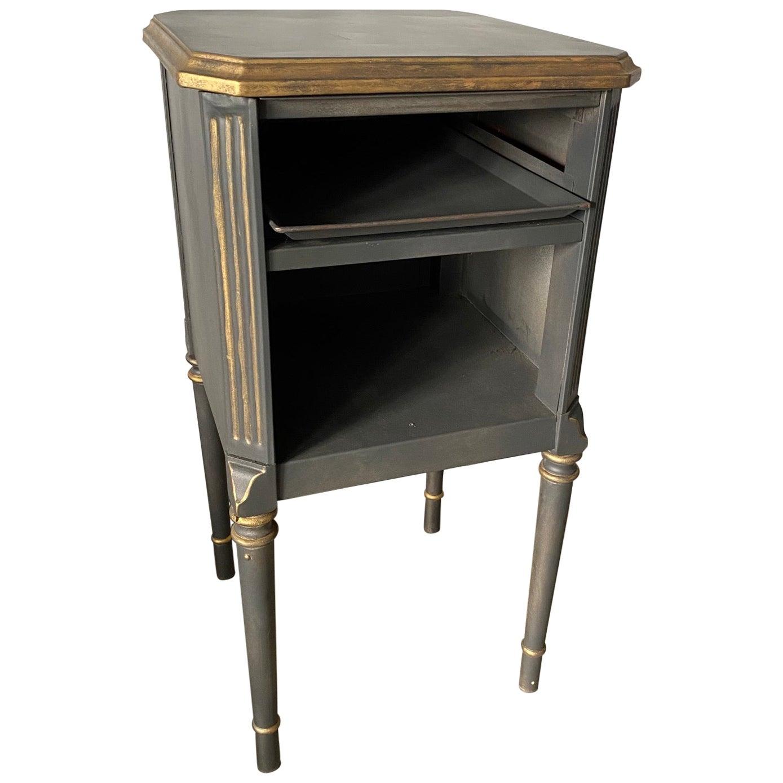 Louis XVI Style Painted Metal Nightstand