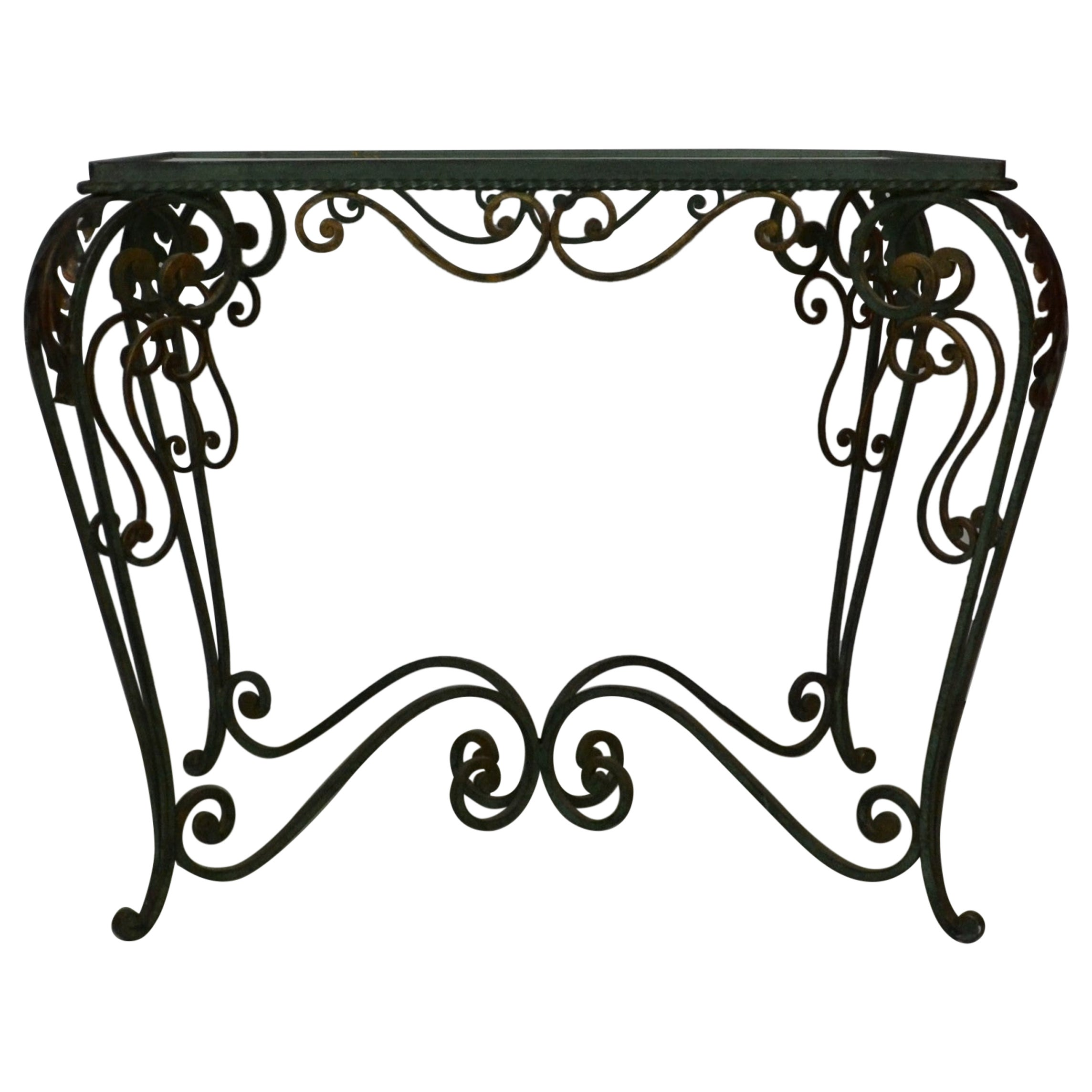 Iron and Glass End / Coffee Table