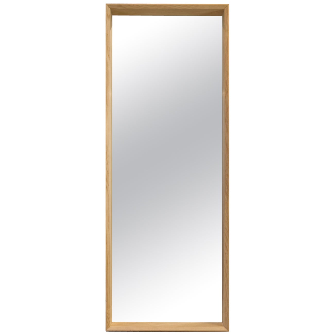 Floor Standing Handmade Large Format Hardwood Ash Mirror, Gallery Style