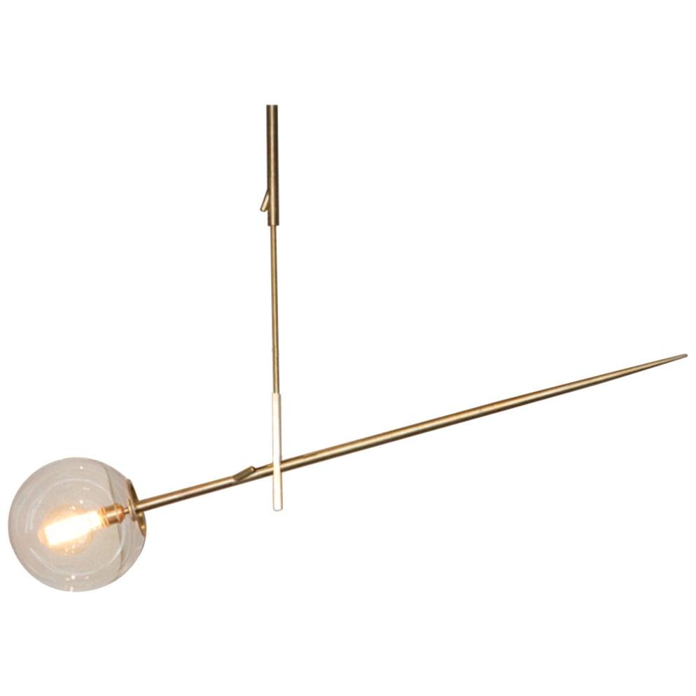 Hasta Brass Hanging Lamp 138, Jan Garncarek