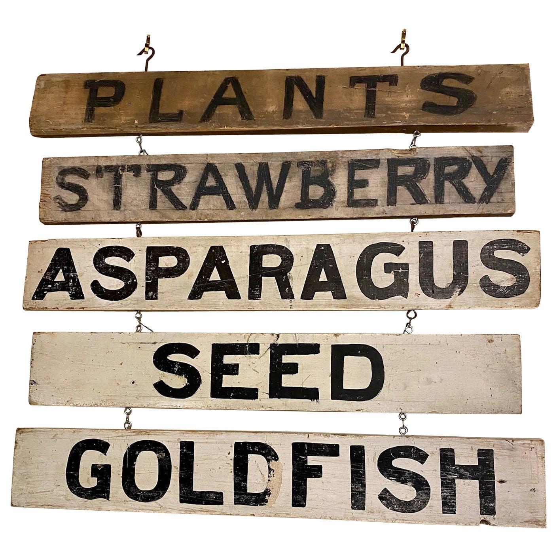 Roadside Farm Vegetable Stand Sign, circa 1940s